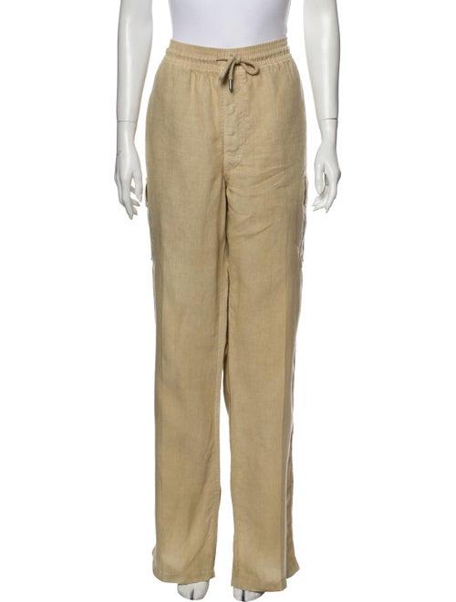 Vilebrequin Linen Wide Leg Pants Brown