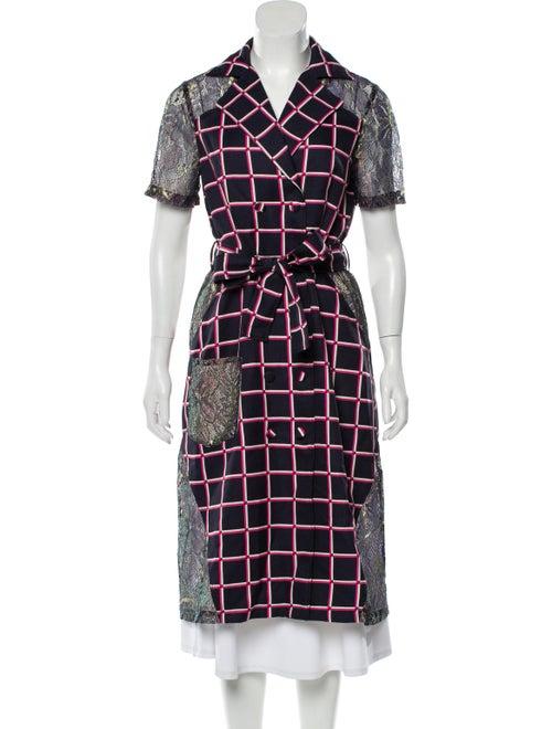 Vivienne Hu Plaid Print Midi Length Dress Pink