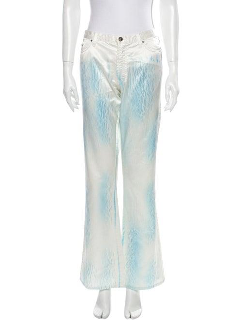 Versace Jeans Mid-Rise Wide Leg Jeans Blue