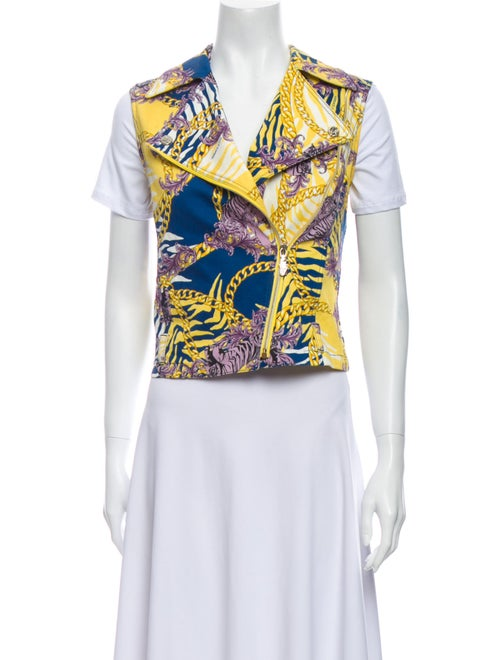 Versace Jeans Printed Vest Yellow