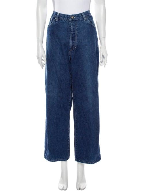 Versace Jeans Wide Leg Pants Blue