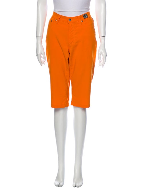 Versace Jeans Wide Leg Pants Orange