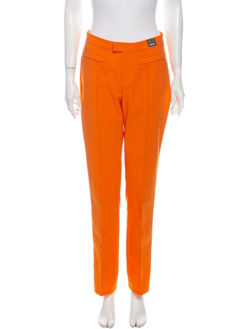 Versace Jeans Straight Leg Pants Orange