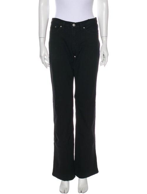 Versace Jeans Mid-Rise Wide Leg Jeans Black