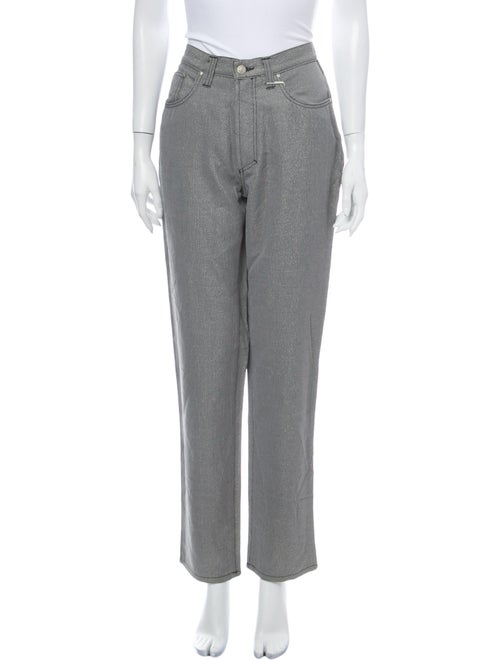 Versace Jeans Mid-Rise Straight Leg Jeans Grey