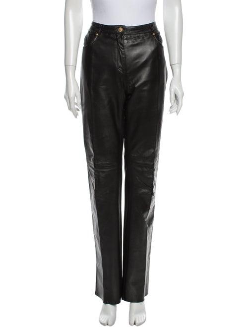 Versace Jeans Mid-Rise Straight Leg Jeans Black