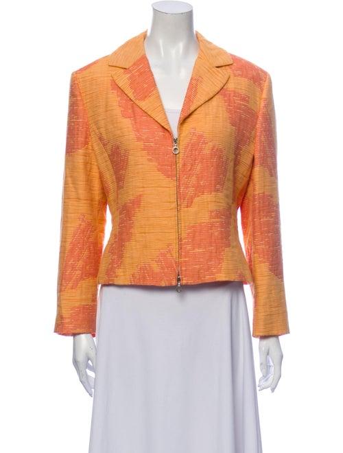 Versace Jeans Printed Blazer Orange
