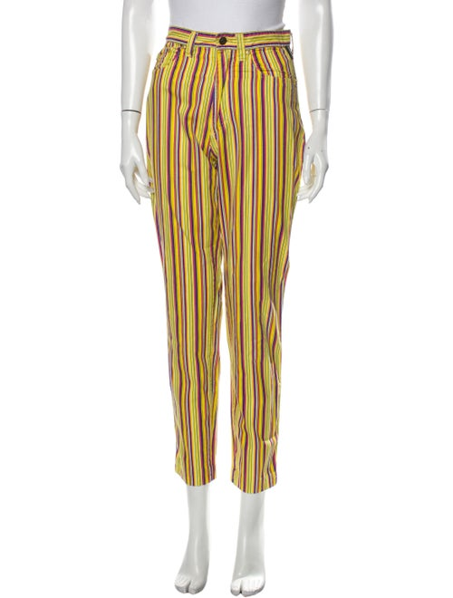 Versace Jeans High-Rise Straight Leg Jeans Yellow