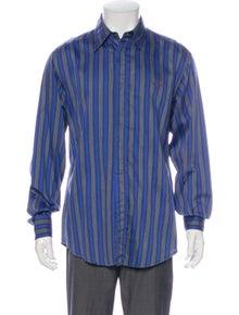 Versace Jeans Striped Long Sleeve Dress Shirt