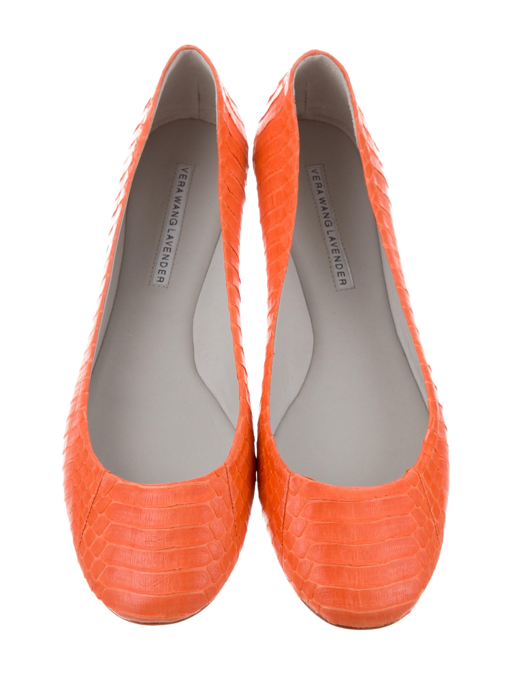 Vera Wang Lavender Label Python Round-Toe Flats w/ Tags cheapest price sale online gL2wKyl