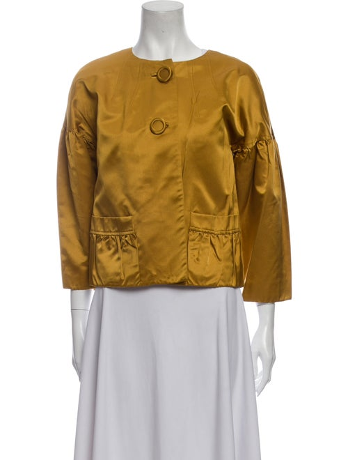 Vera Wang Lavender Label Silk Evening Jacket Gold