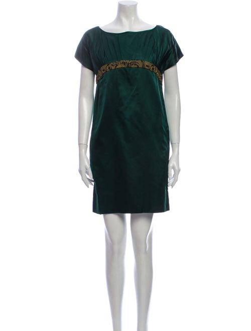 Vera Wang Lavender Label Silk Mini Dress Green