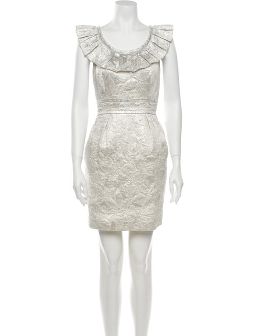 Vera Wang Lavender Label Scoop Neck Mini Dress Met