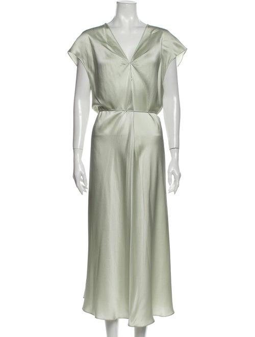 Vince Silk Long Dress Green