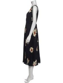 Vince Floral Print Midi Length Dress