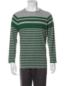 Vince Striped Crew Neck T-Shirt
