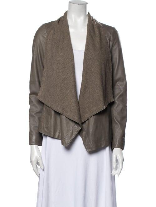 Vince Leather Jacket Grey