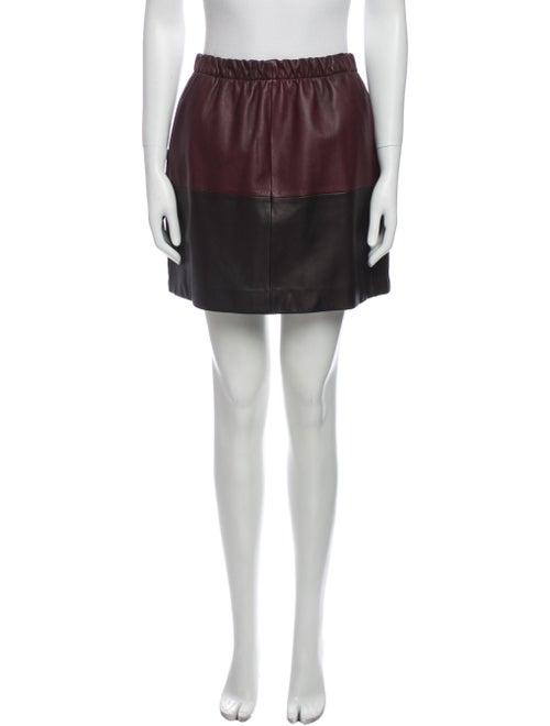 Vince Lamb Leather Mini Skirt