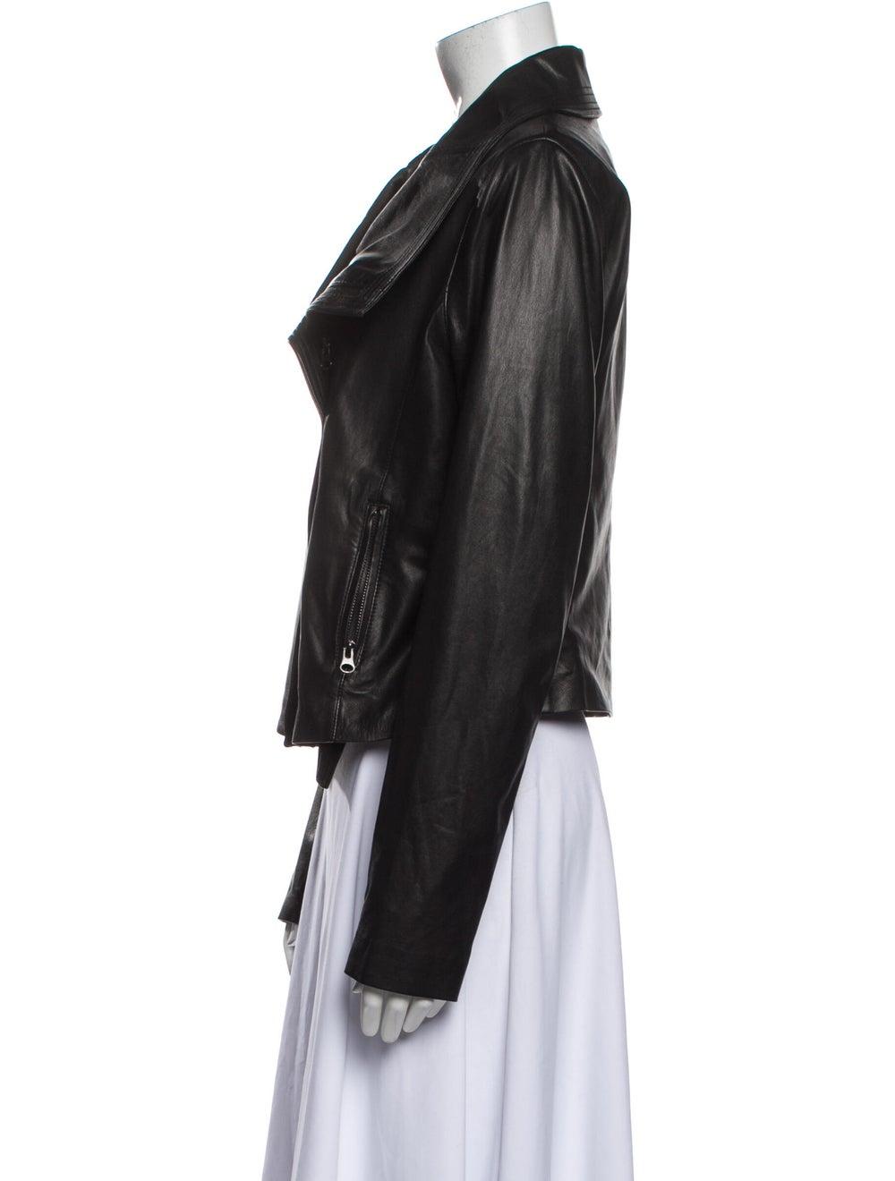 Vince Leather Biker Jacket Black - image 2