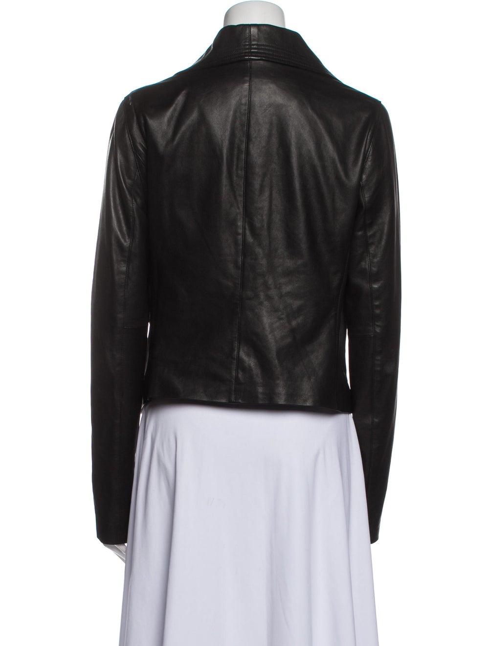 Vince Leather Biker Jacket Black - image 3