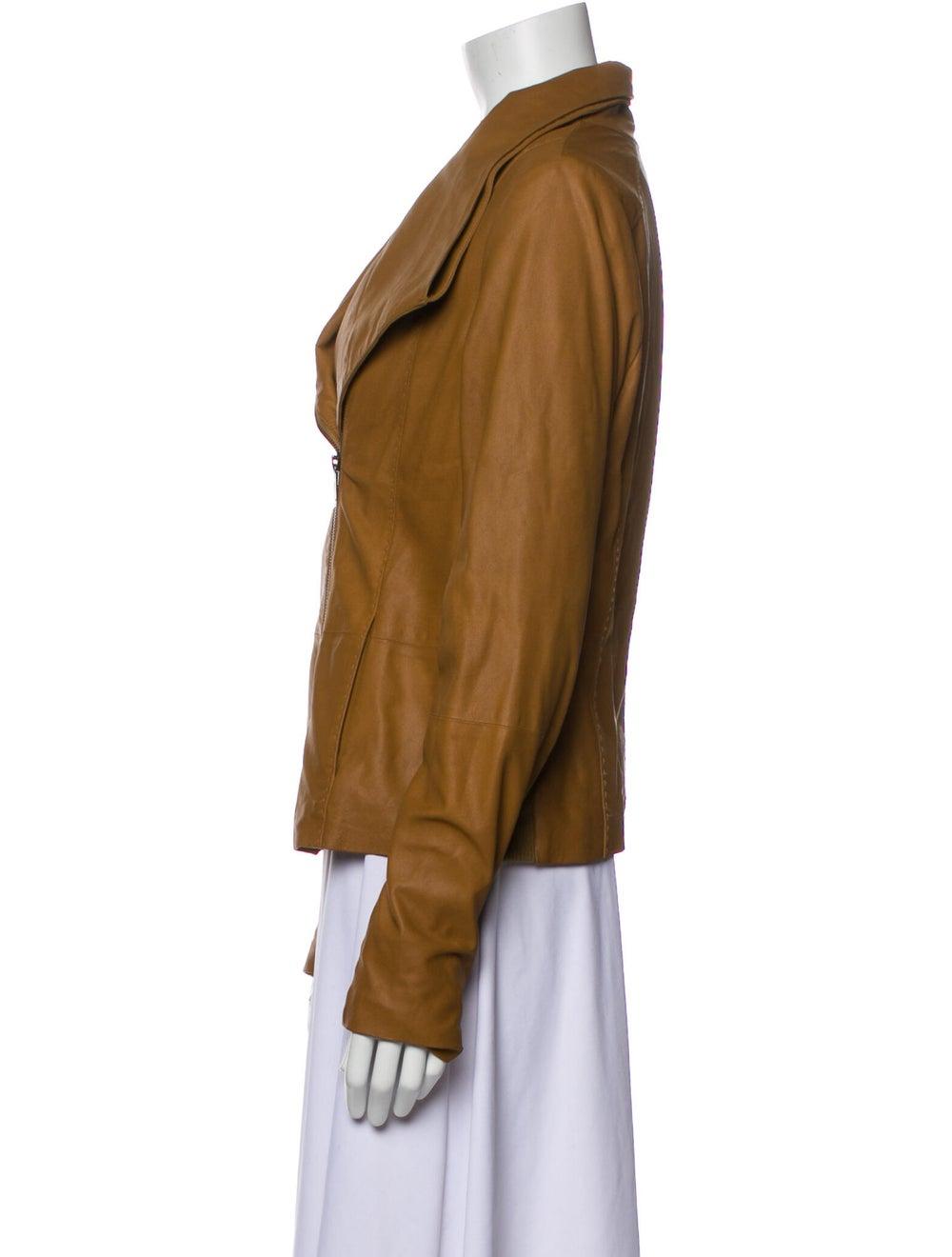 Vince Goat Leather Biker Jacket - image 2