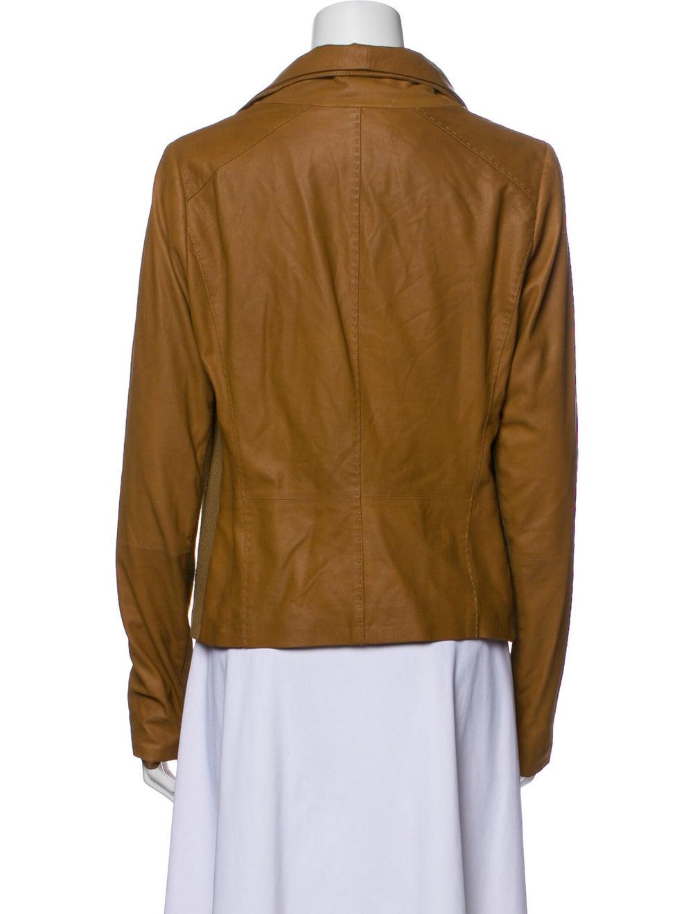 Vince Goat Leather Biker Jacket - image 3