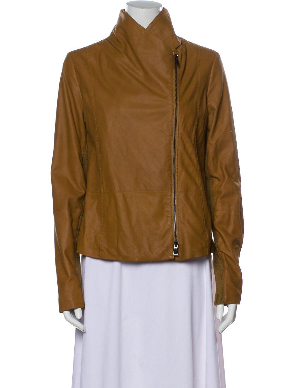 Vince Goat Leather Biker Jacket - image 4