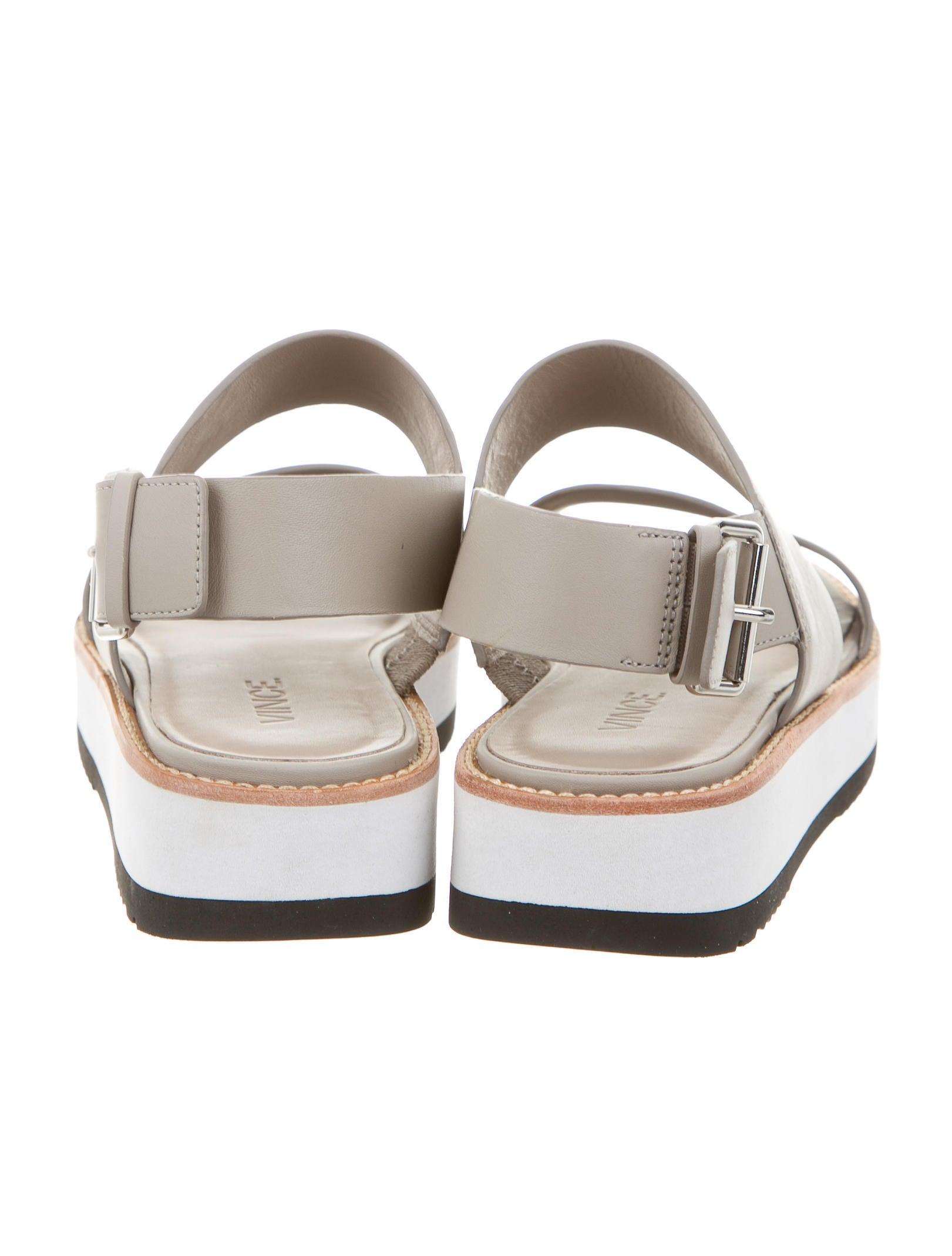 Leather Platform Sandals 7
