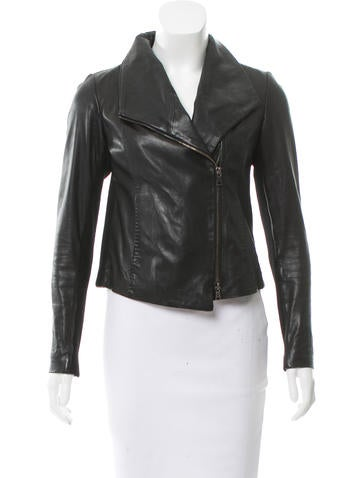 Vince Leather Knit-Accented Jacket None