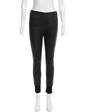 Vince Leather Skinny Pants None