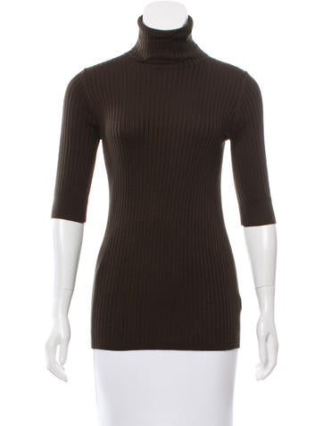 Vince Rib Knit Turtleneck Top w/ Tags None