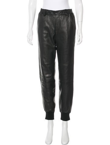 Vince Straight-Leg Leather Pants w/ Tags None