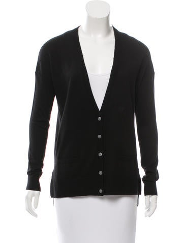 Vince V-Neck High-Low Cardigan None