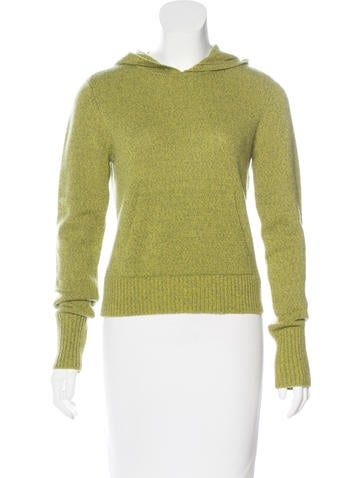 Vince Hooded Knit Sweater None