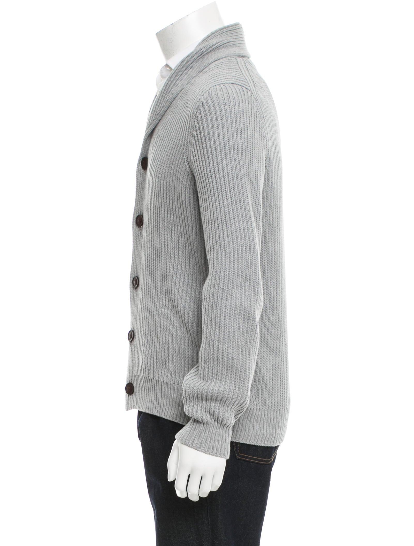 Knitting Cardigan Collar : Vince shawl collar rib knit cardigan clothing wvn
