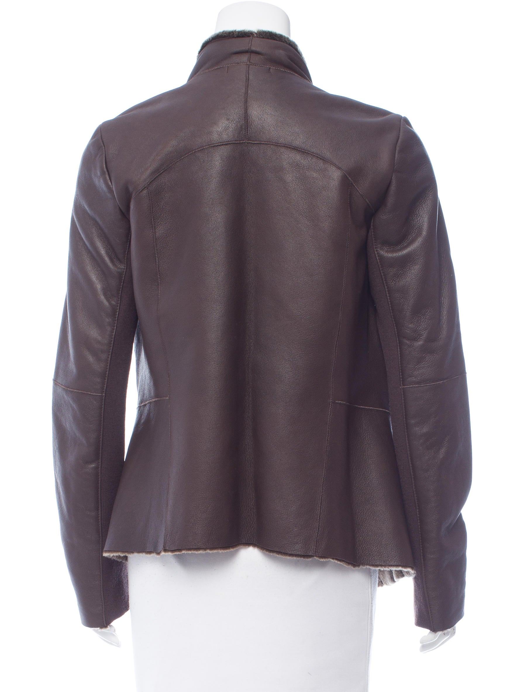 Vince draped leather jacket clothing wvn26316 the for Leather jacket and shirt