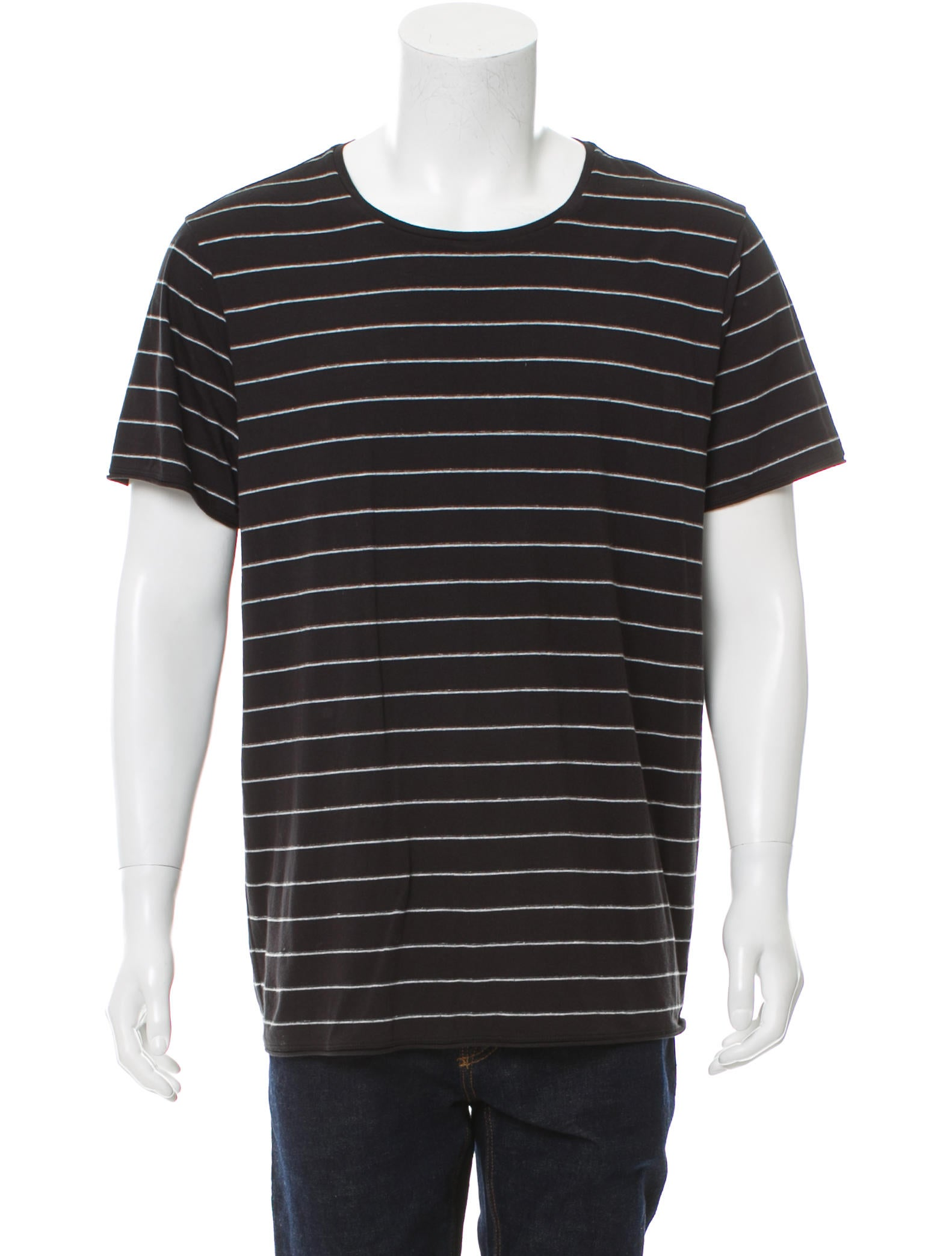 Vince striped scoop neck t shirt clothing wvn27536 for Scoop neck t shirt