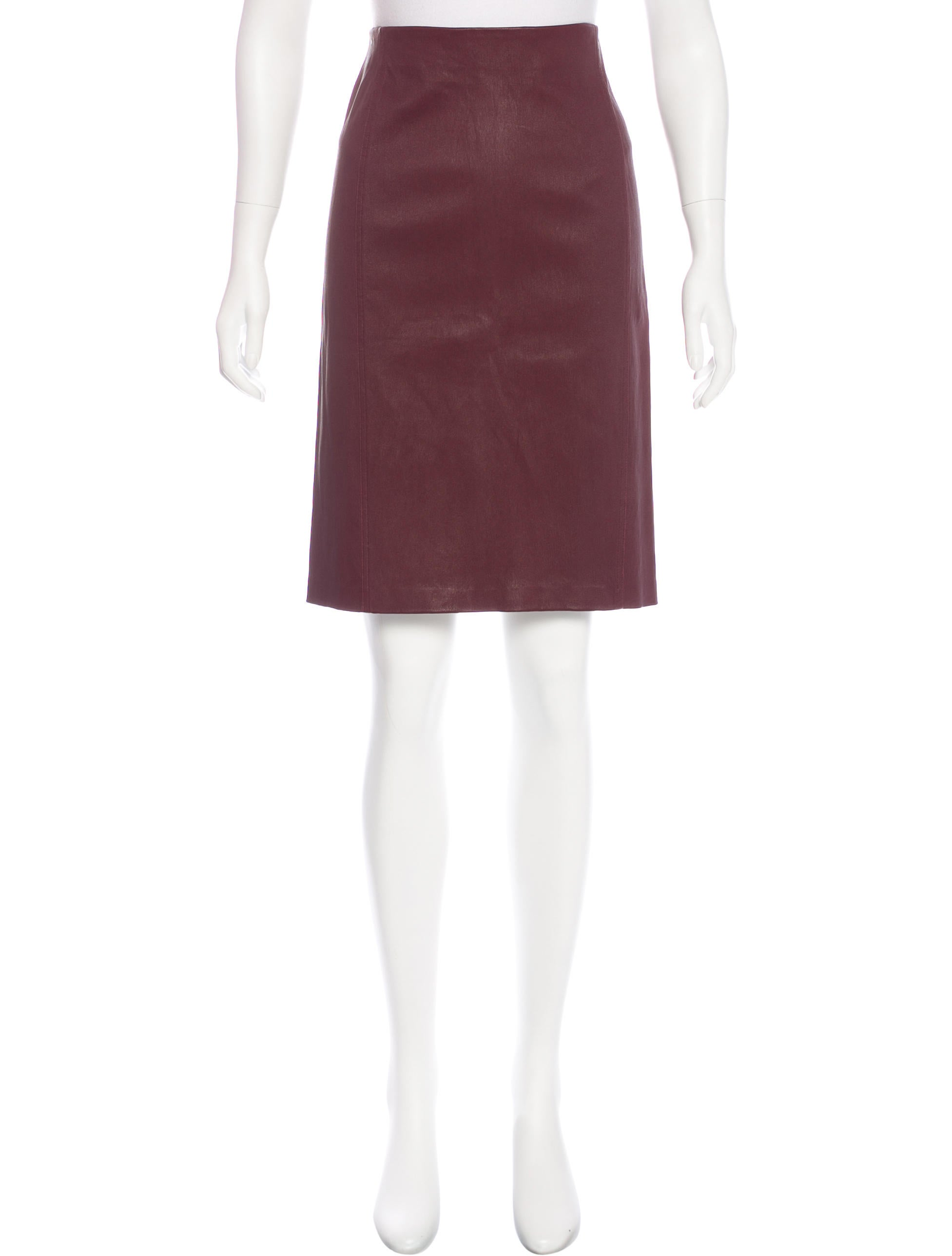 vince leather knee length skirt w tags clothing