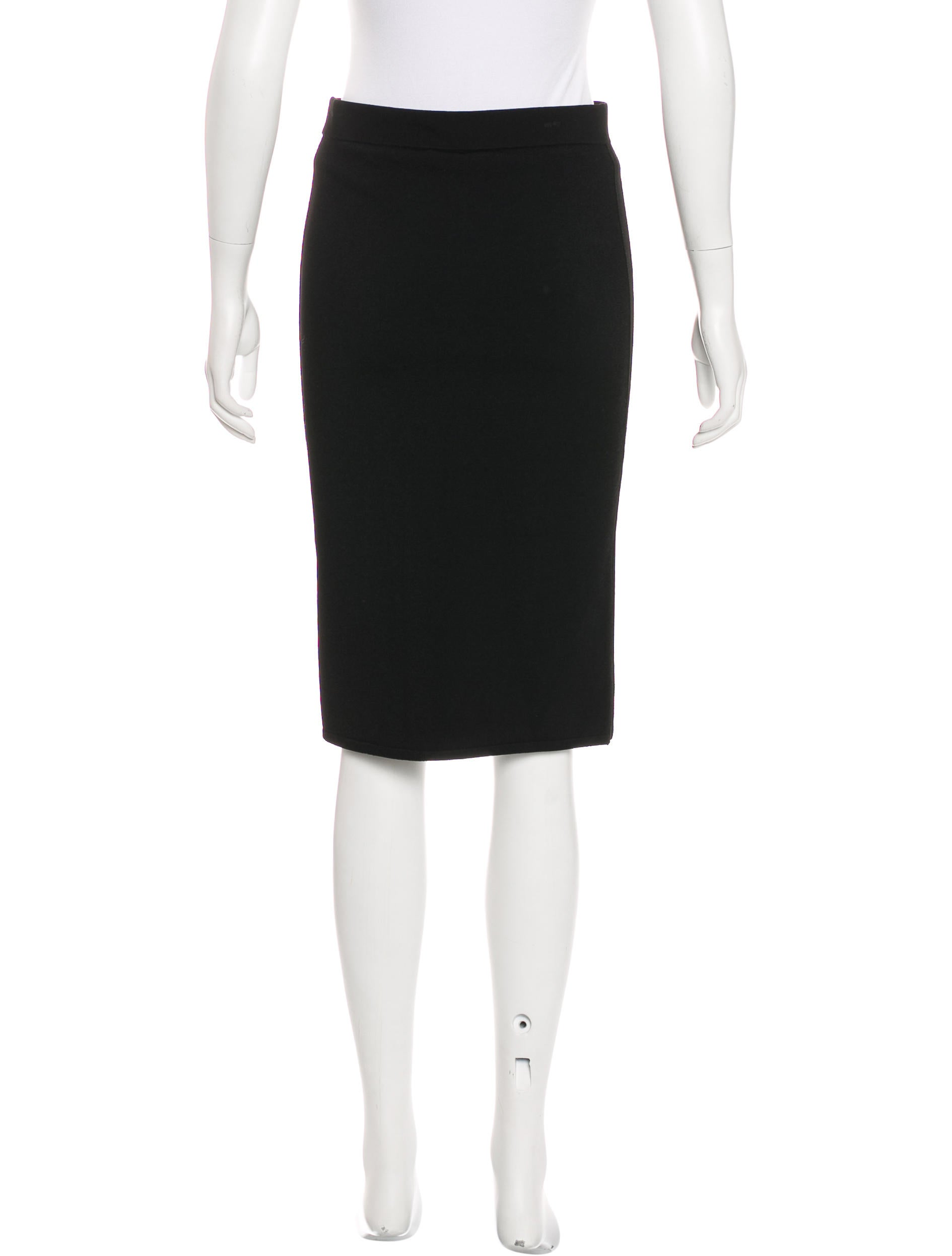 vince knee length bodycon skirt clothing wvn28141
