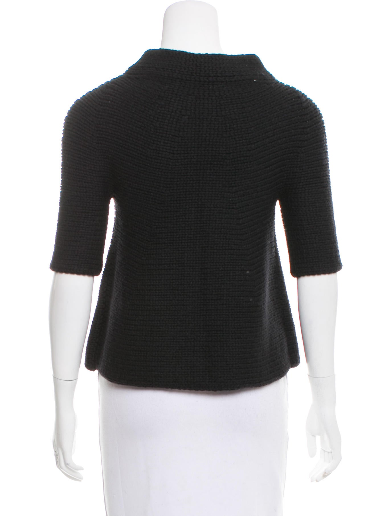 Vince Short Sleeve Wool Cardigan - Clothing - WVN28172 | The RealReal