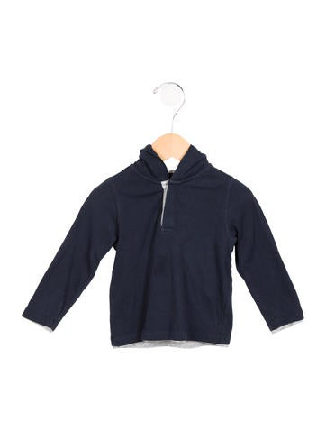 Vince boys 39 hooded long sleeve shirt wvn28284 the realreal for Boys long sleeve shirt with hood