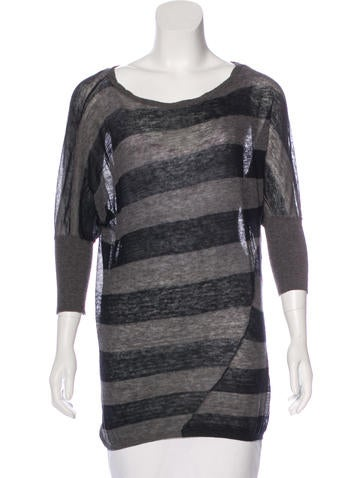 Vince Wool-Blend Striped Top None
