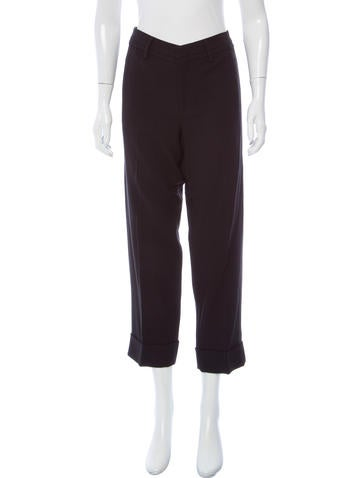 Vince Mid-Rise Wool-Blend Pants w/ Tags None