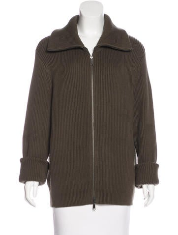 Vince Knit Zip-Up Sweater None