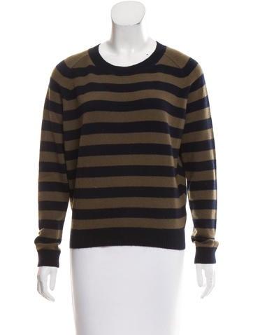 Vince Striped Cashmere Sweater None