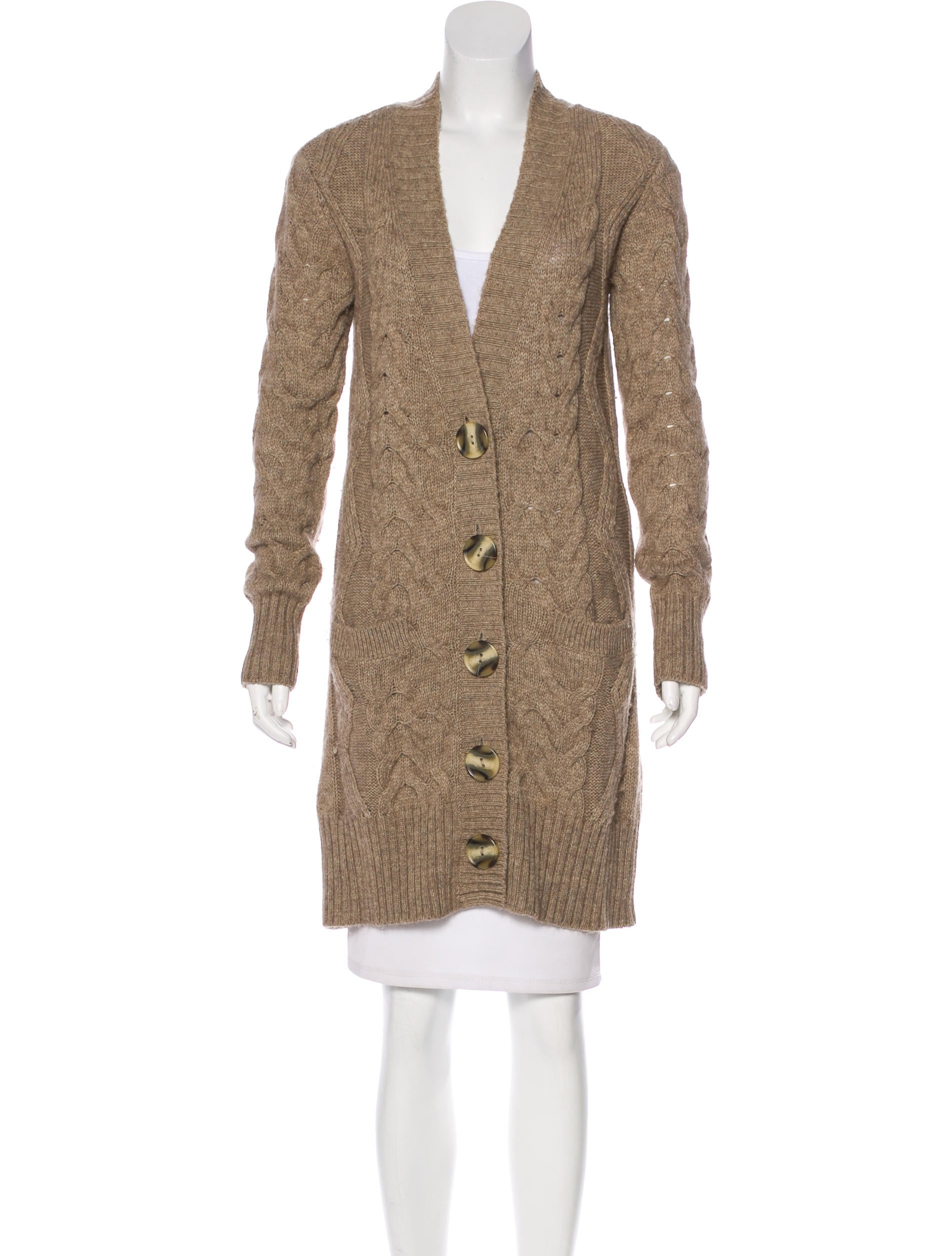 Vince Long Cable Knit Cardigan - Clothing - WVN28846 | The RealReal