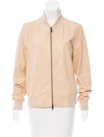Vince Short Leather Jacket None