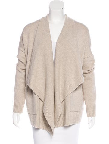 Vince Wool Open-Front Cardigan None