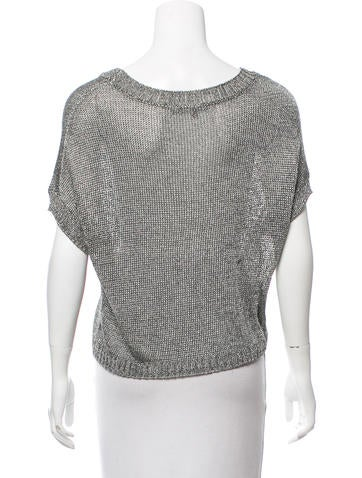 Vince Metallic Open Knit Top Clothing Wvn30252 The Realreal