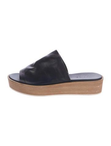 99b7653d386 Vince Saskia Leather Slide Sandals - Shoes - WVN30323